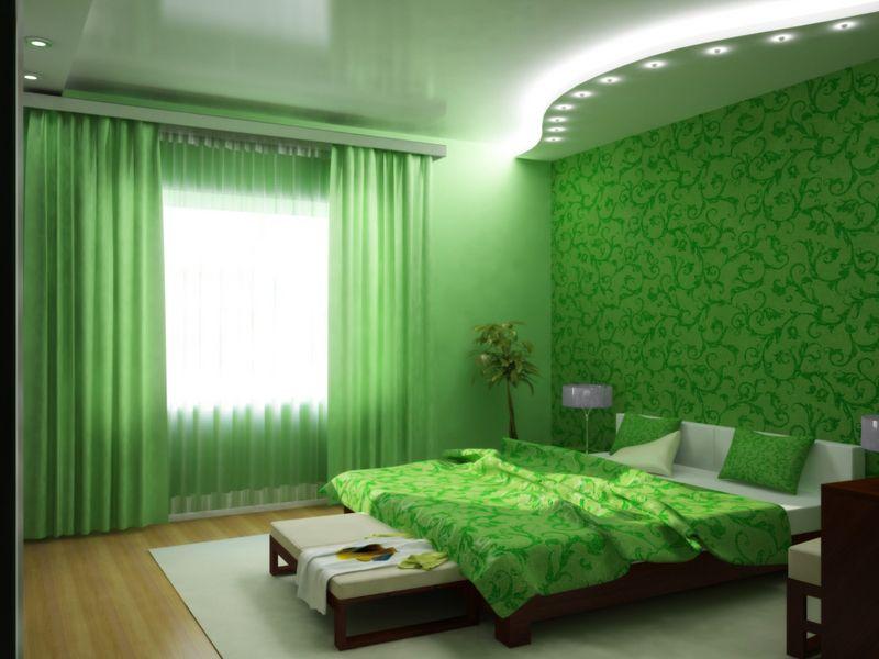 обои для стен зеленые